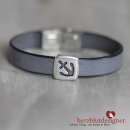 "ARMBAND* ""SAILOR"" maritim mit Anker in anthrazit"
